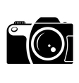 Camera sign black and white icon vector | Price: 1 Credit (USD $1)