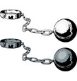 chain and ball vector image