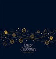 christmas elements decoration background design vector image