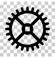 clock gear icon vector image vector image