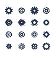 cogs symbol set on white background settings icon vector image vector image