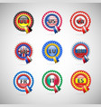 collection flag badges different countries vector image