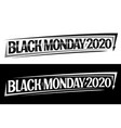 concept for black monday 2020 vector image