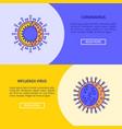 coronavirus and influenza virus flyer templates in vector image