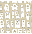 cute bears family seamless pattern for your vector image