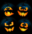 Dark pumpkins vector image