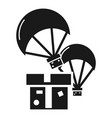 donation parachute box icon simple style vector image