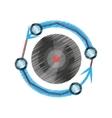 drawing vr circular camera panorama vector image vector image