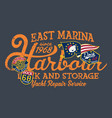 east marina harbor dock yacht storage vector image vector image