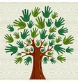 Eco friendly Tree hands vector image vector image