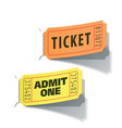 entrance tickets vector image vector image