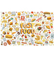 fast food elements vector image