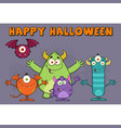 funny monsters cartoon characters vector image vector image