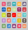 Hospitality business line flat icons vector image