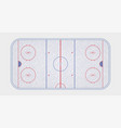 ice hockey rink textures blue ice ice rink top vector image