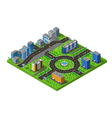 Isometric City Street Composition Poster vector image