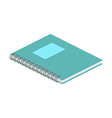 Isometric notebook on white background For web vector image vector image