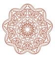 lace ornament mandala vector image vector image