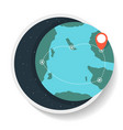 logistics icon with commercial route on globe map vector image vector image