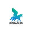 logo pegasus gradient colorful style vector image vector image