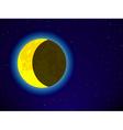 Moon on night sky vector image