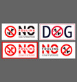 no dog fouling sign modern sticker set for urban vector image vector image