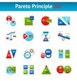 pareto principle flat icons set vector image