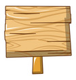 post wood sign icon cartoon style vector image