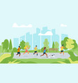 running people flat vector image