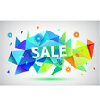 sale - summer spring faceted 3d banner vector image vector image