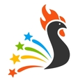 Salute Rooster Flat Icon vector image