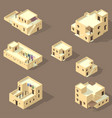 set arab house isolated on sandy vector image vector image