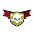skull and shield crossed bones and skeleton head vector image vector image