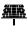 solar brand panel icon simple style vector image