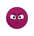 sphere cartoon face expression icon vector image vector image