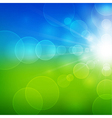 Summer beautiful landscape view with sunlight vector image vector image