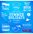 Summer design Set of typographic labels for summer vector image vector image