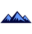 three mountain logo icon vector image vector image