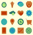 Today life color icons set vector image vector image