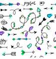 tribal vintage arrows vector image vector image