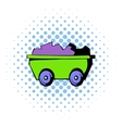 Trolley icon comics style vector image vector image