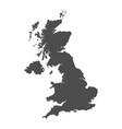 united kingdom map black icon on white background vector image vector image