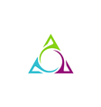 unusual triangle abstract business logo vector image vector image