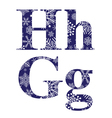 Uppercase and lowercase letters H and G vector image vector image