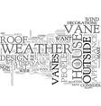 weathervanity text word cloud concept vector image vector image
