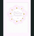 wedding card with pastel pink roses vector image vector image