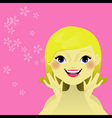 Woman s care of her skin vector image