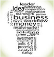 Wordcloud business lightbulb vector image