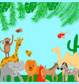 zoo animals on a blue background vector image