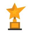 Golden star award on white vector image